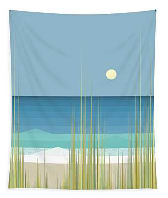 Summer Day At The Beach - Square Tapestry