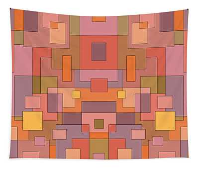 Summer Peach Abstract Tapestry