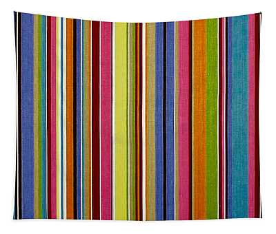Summer Striped Canvas Tapestry