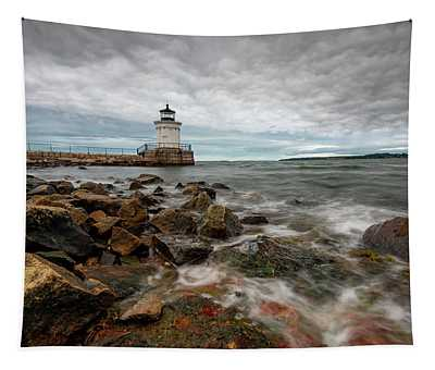 Summer Tides At Bug Light Tapestry