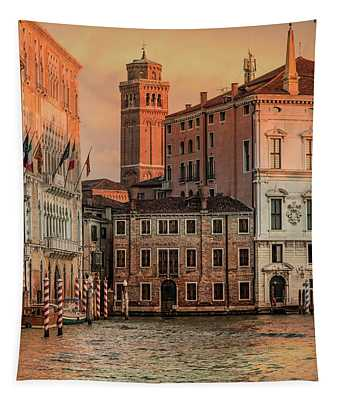 Tapestry featuring the photograph Summy Morning In Venice by Jaroslaw Blaminsky