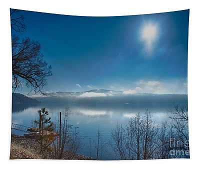 Tapestry featuring the photograph Sun Over Lake Coeur D'alene by Matthew Nelson