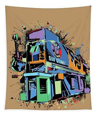 Sun Studio Memphis Pop Art Tapestry
