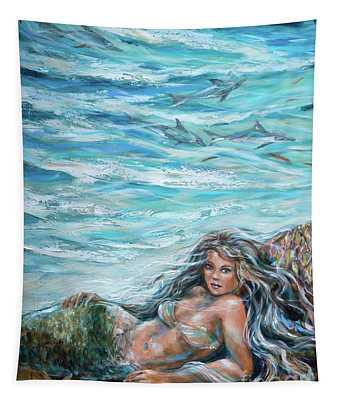 Sunbathing In Cove Tapestry