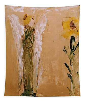 Sunflower Angel Tapestry