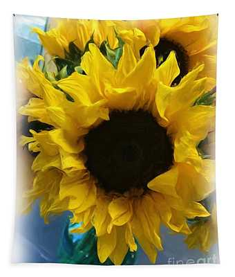 Sunflower Digital Painting  Tapestry