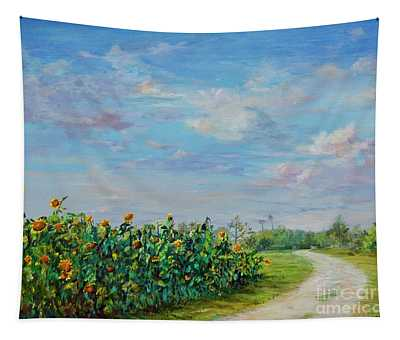 Sunflower Field Ptg Tapestry
