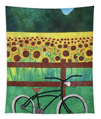 Sunflowers At Whitehall Farm Tapestry