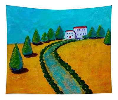 Sunny Cottages Tapestry