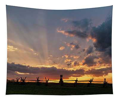 Sunrays At Sunset Tapestry