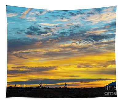 Tapestry featuring the photograph Sunrise At Beaumont by Mae Wertz