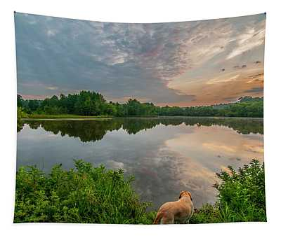 Sunrise At Ross Pond Tapestry