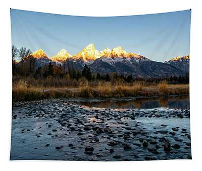 Sunrise At Schwabacher Landing Tapestry