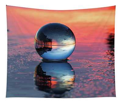 Sunrise At The Beach Tapestry