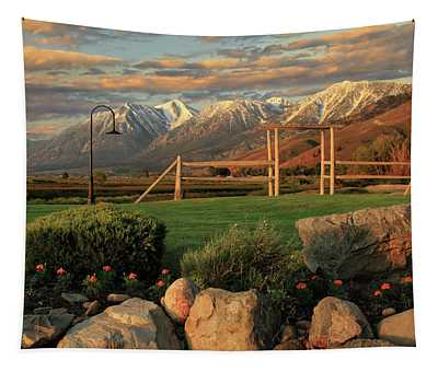 Sunrise In Carson Valley Tapestry
