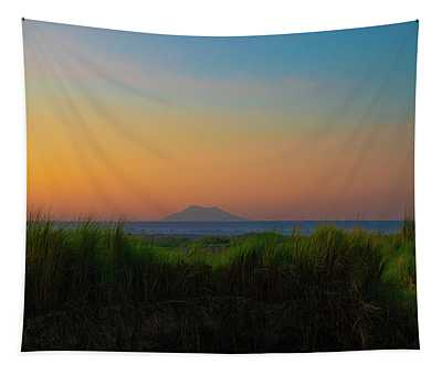 Sunrise By The Irrawaddy River Tapestry