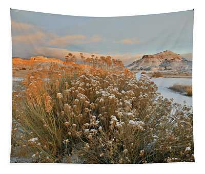 Sunrise On Colorado National Monument And Ruby Mountain Tapestry