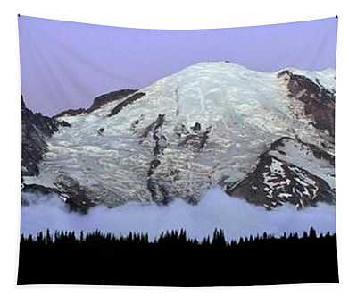 Twilight Above The Clouds Mount Rainier Tapestry