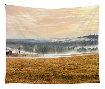 Sunrise On The Farm Tapestry