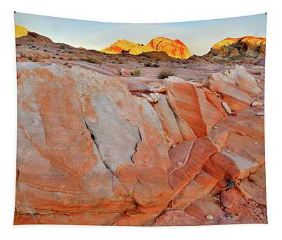 Sunrise On Valley Of Fire State Park Tapestry