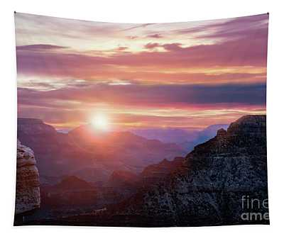 Sunrise Over The Canyon Tapestry