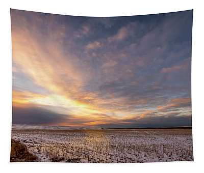 Sunrise Over The Stubble Tapestry