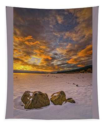 Sunrise Rocks Tapestry