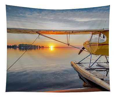Sunrise Seaplane Tapestry