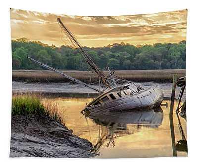 Sunrise Shipwreck Tapestry