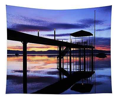 Sunrise Silhouette Serenity  Tapestry
