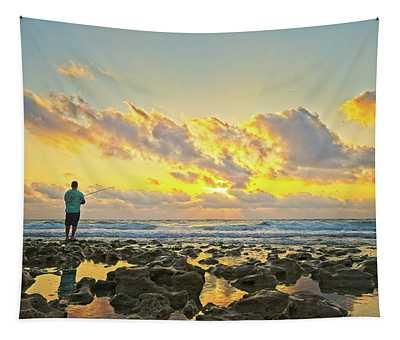 Sunrise Surf Fishing Tapestry