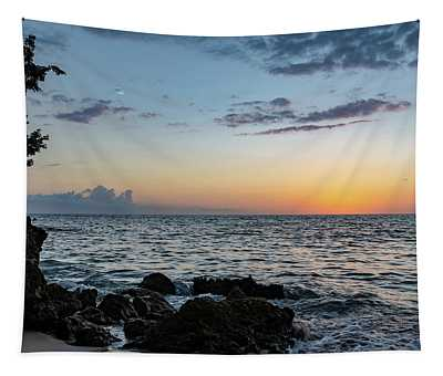Sunset Afterglow In Negril Jamaica Tapestry