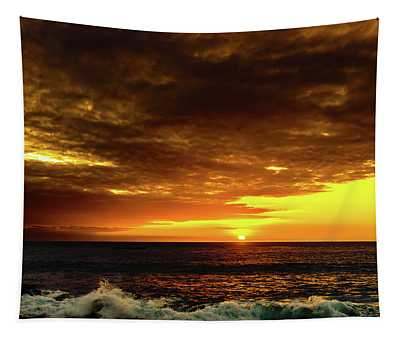 Sunset And Surf Tapestry