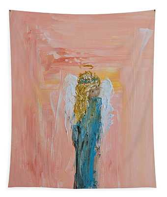 Sunset Angel Tapestry