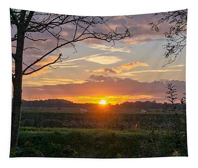Tapestry featuring the photograph Sunset by Anjo Ten Kate