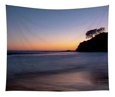 Sunset At Abalone Cove Tapestry