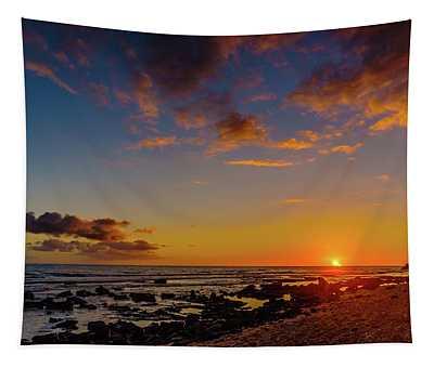 Sunset At Kailua Beach Tapestry