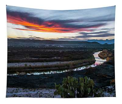 Sunset At Rio Grande Village Tapestry