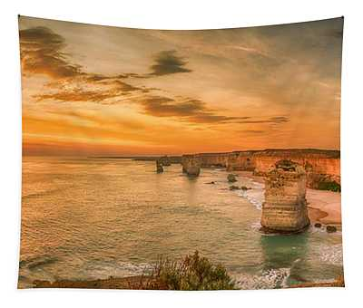 Sunset At The Twelve Apostles Tapestry