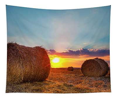 Sunset Bales Tapestry
