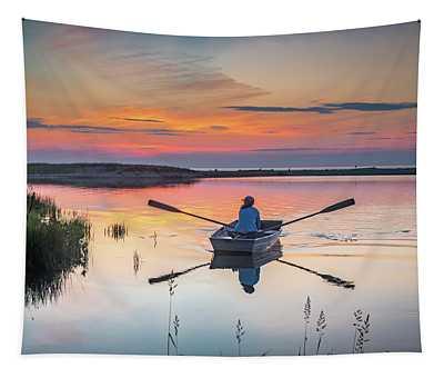 Sunset  Crossing Tapestry