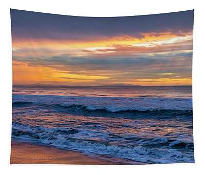 Sunset Fire Over Catalina Island Tapestry