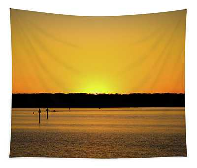 Sunset From National Harbor Tapestry