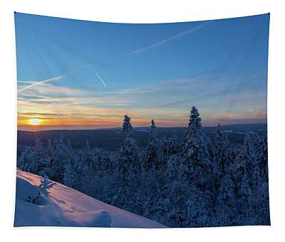 sunset in the Harz National Park, Germany Tapestry