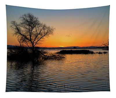 Sunset In The Refuge Tapestry