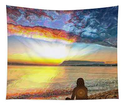 Sunset Meditation Tapestry
