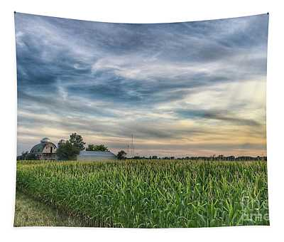Sunset On The Farm Tapestry