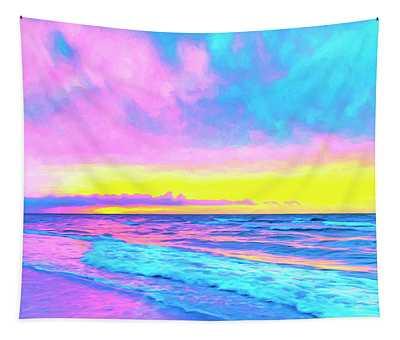 Sunset On The Kona Coast Tapestry