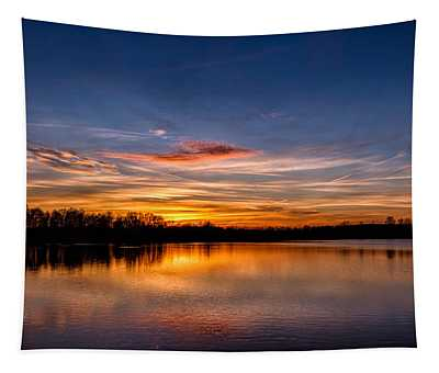 Sunset Over Laupheim Quarry Tapestry
