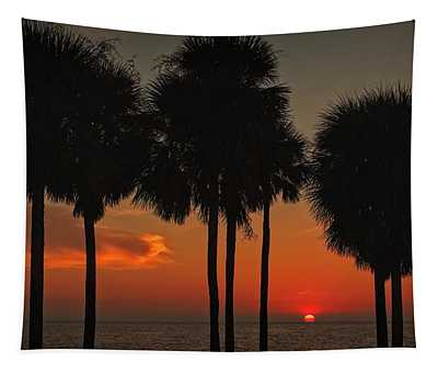 Sunset Over The Gulf Tapestry